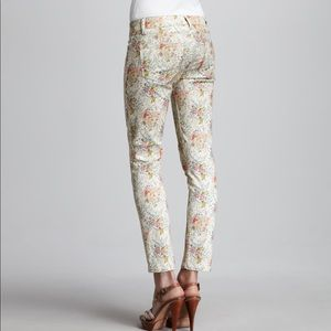 Paige Skyline Keighly Floral Print Ankle Peg Jeans